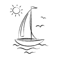 Drawing of sailboat
