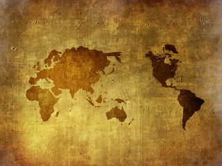 scratch vintage world map.