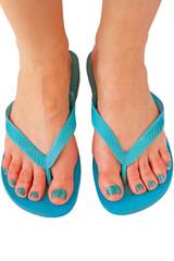 woman feet for summer