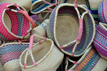 colorful homemade shopping baskets for sale