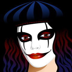beautiful clown