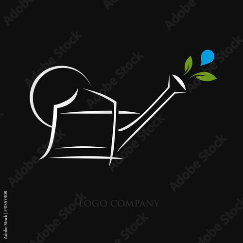 Logo jardin logo jardinier fichier vectoriel libre de for Logo jardin