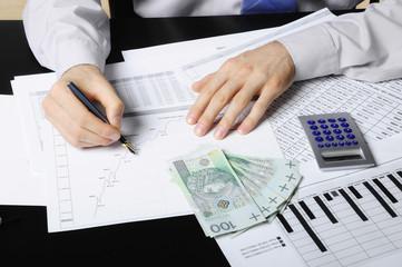 Obraz planowanie wydatków - fototapety do salonu