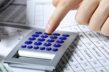 Obraz wyliczanie podatku - fototapety do salonu