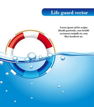 life guard vector