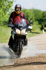 Papier Peint - turist biker