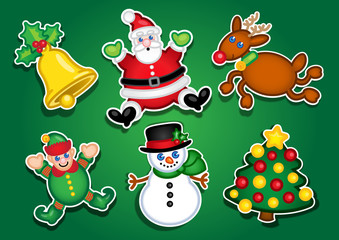 Christmas Characters Stickers / Labels