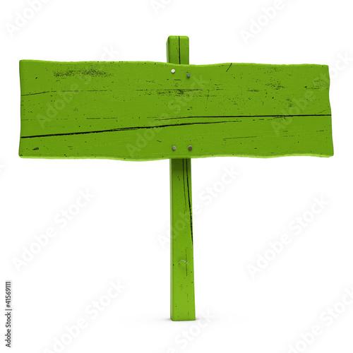 """Panneau Indicateur Bois - """"panneau indicateur bois peint en vert Green sign"""" photo libre de droits sur la banque d'images"""