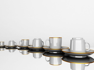many Beautiful cups
