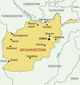 Islamic Republic of Afghanistan - vector map