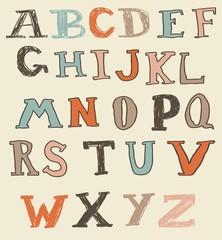 funky doodle alphabet