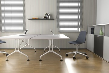 Büro - Doppelarbeitsplatz - Grau