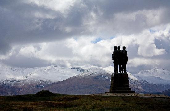 Commando Memorial, Spean Bridge, Highlands of Scotland