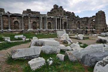Ruinen in Side, Türkei