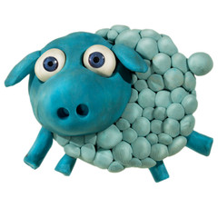 Plasticine sheep
