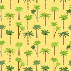 Seamless tropical pattern with palms #2