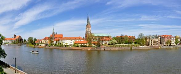 Wrocław, Ostrów Tumski - Stitched Panorama