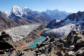 Photo sur cadre textile Népal Gokyo Lake, Everest Area, Nepal