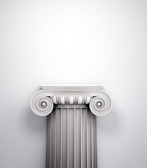 Antique doric style column