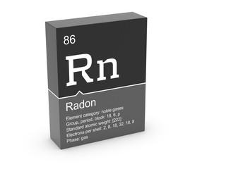 Radon from Mendeleev's periodic table