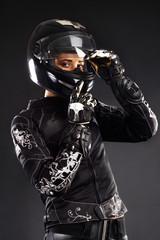 Fotomurales - Beautiful biker