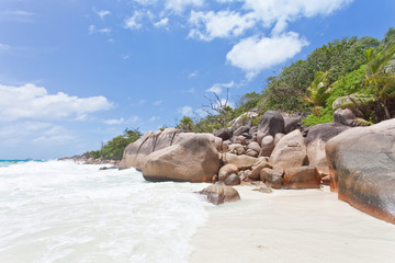 Beach of the famous Anse Lazio - Seychelles