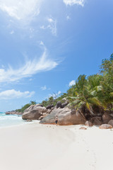 Woman at the Anse Lazio - Praslin - Seychelles