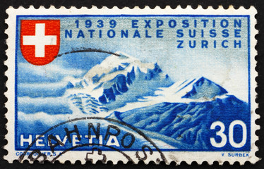 Postage stamp Switzerland 1939 Alpine Scenery