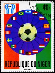 NIGER - CIRCA 1978 Soccer Ball