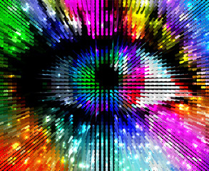 artistic colorful eye, abstract illustration