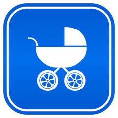 Baby carriage vector sign