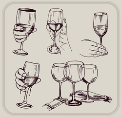 how to hold a glass