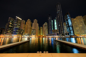 Dubai. Dubai Marina at night