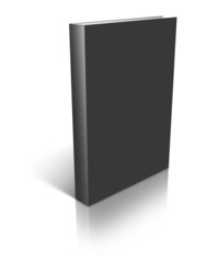 Black empty book template