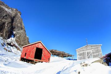 Stockfis lofts of the village of Å i Lofoten