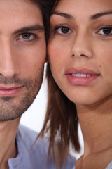 Close-up of couple