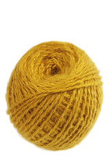Ball of yellow yarns