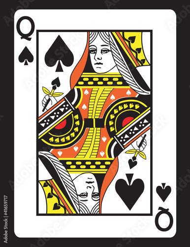 """""""Queen of Spades! Vector eps 8"""" Stock image and royalty ..."""