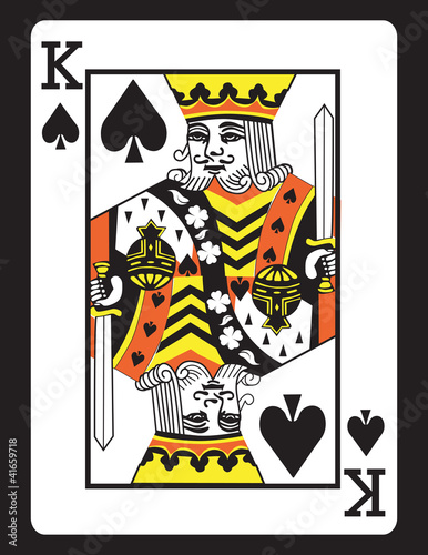 King Of Spades Vector Eps 8 Stock Image And Royalty Free Vector