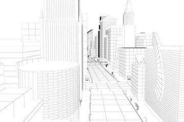 Wire Frame City