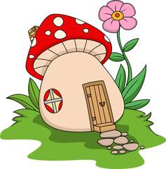Photo sur Plexiglas Monde magique Fantasy mushroom house