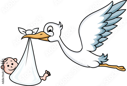 Stork With Baby Stock Image And Royalty Free Vector Files On