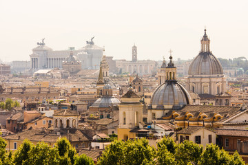 Poster Rome Rome overview with monument and several domes