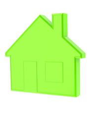 Grünes Energiesparhaus isoliert