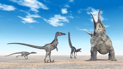 Velociraptors Hunting