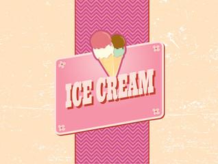 ice cream retro design