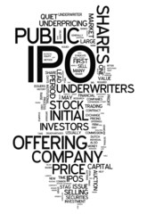 "Word Cloud ""IPO - Initial Public Offering"""