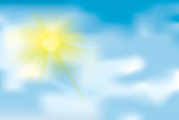 Photo sur Aluminium Ciel Clear weather / Blue sky with sun