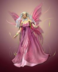 Foto op Aluminium Feeën en elfen Pink Magic