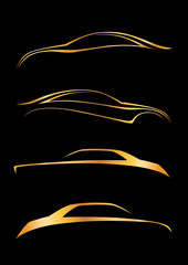 Dörtlü otomobil logosu seti